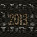 2013 calendar snake skin Stock Photo