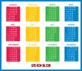 2013 Calendar Template Colorful Stock Photos