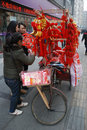 2013 chinese new year market in Chengdu Stock Photography