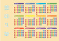 2013 colorful wall calendar Royalty Free Stock Photography