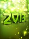 2013 Gelukkige de groetkaart van het Nieuwjaar. Stock Foto