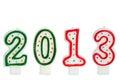 2013 gemaakt met cakekaarsen Royalty-vrije Stock Foto
