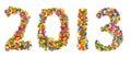 2013 gjorde av konfettiar Arkivfoto