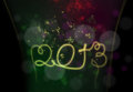 2013 - Happy New Year Stock Photos