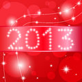 2013 Happy New Year card. Royalty Free Stock Photos