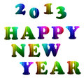 2013 Happy new year colorful alphabet Royalty Free Stock Photography