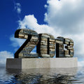 2013 monument showing optimism for the year ahead Royalty Free Stock Photos