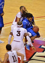 2013 NCAA Basketball - rebound Royalty Free Stock Photo