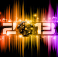 2013 New Year Celebration Background Stock Images