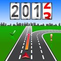 2013 New Year counter Stock Image