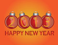 2013 New Year Ornaments Royalty Free Stock Image