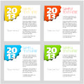 2013 - New Year vector corner Royalty Free Stock Photography
