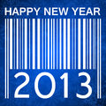 2013 new years illustration with barcode Royalty Free Stock Photos