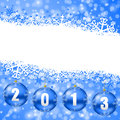 2013 new years illustration with christmas balls Stock Photography