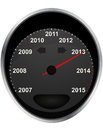 2013 odometer Stock Photography