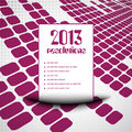 2013 resolution list background Stock Image