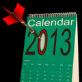 2013 Schedule Calendar Shows Future Business Targets Royalty Free Stock Photos