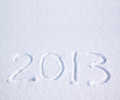 2013 on the snow Stock Images