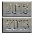 2013 stone tablet convex and concave Royalty Free Stock Image