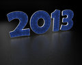 2013 year blue text Royalty Free Stock Image