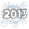 2013 year celebration Royalty Free Stock Photos