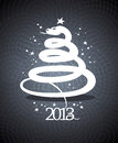 2013 year design in form of a snake. Royalty Free Stock Image