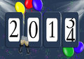 2014 New Year Odometer Royalty Free Stock Photo