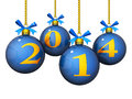 2014 New Year Ornaments Royalty Free Stock Photography