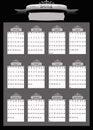 2014 Professional Business Calendar Stock Photos