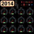 2014 year calendar speedometer car Royalty Free Stock Photos