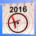 2016 Calendar Target Shows Planning Annual Royalty Free Stock Photo