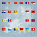 21 european countries over european map Royalty Free Stock Photo