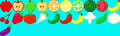 21 pixelated fruit and vegetable icons Royalty Free Stock Photo