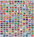 216 Flags of the world Royalty Free Stock Images