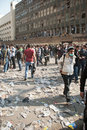22 November 2011: New Clashes in Egypt Royalty Free Stock Photos