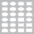 24 blank labels set (vector) Royalty Free Stock Photos