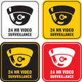 24 H Video surveillance camera Royalty Free Stock Photos