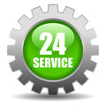24 hour service Stock Photography