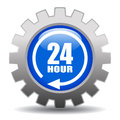 24 hour service icon Royalty Free Stock Photo