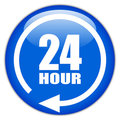 24 hour sign Royalty Free Stock Photos
