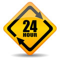 24 hour sign Royalty Free Stock Photo