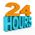 24 hours concept over white background Royalty Free Stock Image