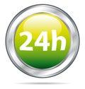 24 tiempo icono