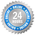 24 hours online service Royalty Free Stock Photos