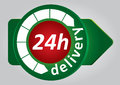24h delivery tag Stock Image