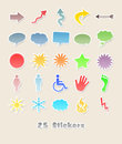 25 different stickers for your design Royalty Free Stock Photo