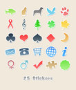 25 different stickers for your design Stock Photo