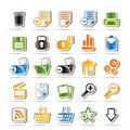 25 Simple Realistic Detailed Internet Icons Royalty Free Stock Images