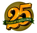 Logo design for 25 years of excellence Royalty Free Stock Photo