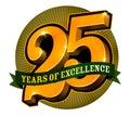 Označenie organizácie alebo inštitúcie dizajn 25 roky z dokonalosť